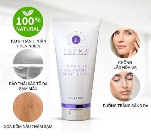 những công dụng của  iluma intense lightening body lotion