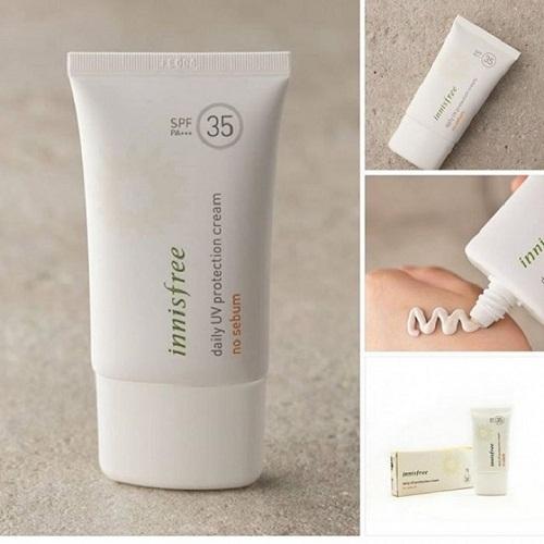 Innisfree Daily UV Protection Cream No Sebum SPF35 PA+++ dạng kem mịn thẩm thấu nhanh