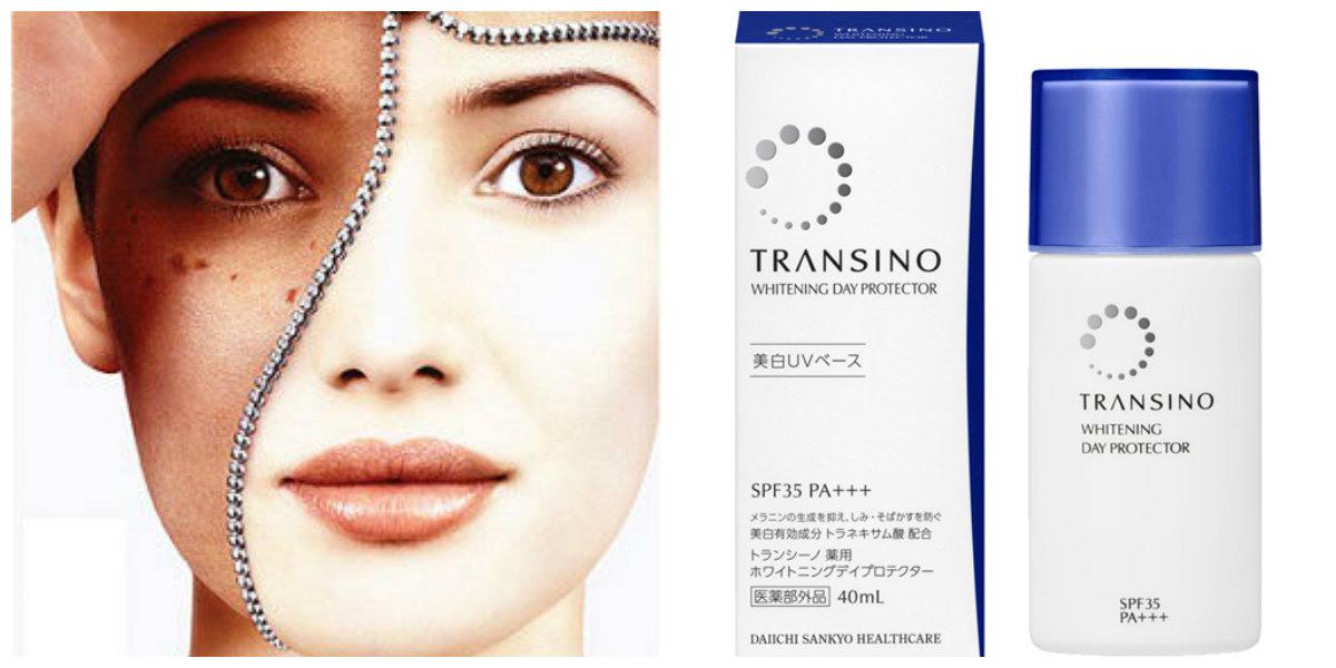 kem chống nắng dưỡng trắng Transino Whitening Day Protector hỗ trợ điều trị nám hiệu quả