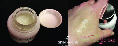 kem dưỡng the skin house crystal whitening plus cream review