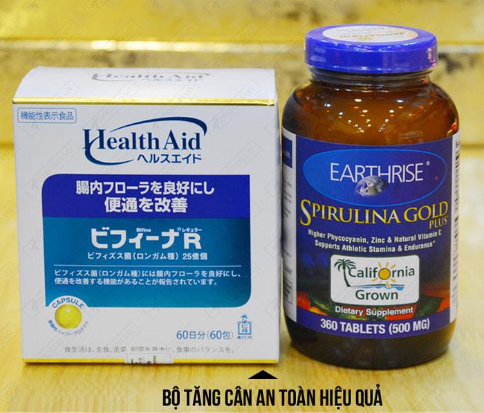 Tăng cân cùng men vi sinh sống Bifina R Japan
