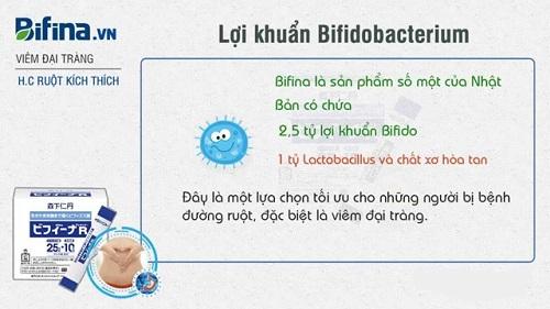 Bifina R bổ sung lợi khuẩn Bifido tốt cho các bệnh nhân viêm đại tràng