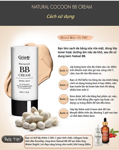 kem bb chống nắng che khuyết điểm natural cream grinif 3