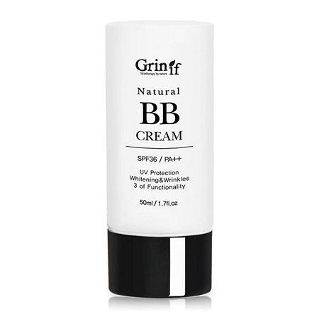 kem nền chống nắng natural bb cream grinif 50 ml