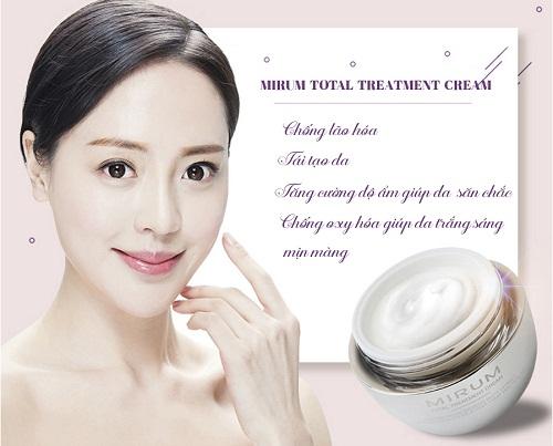 mirum total treatment cream có tác dụng như thế nào