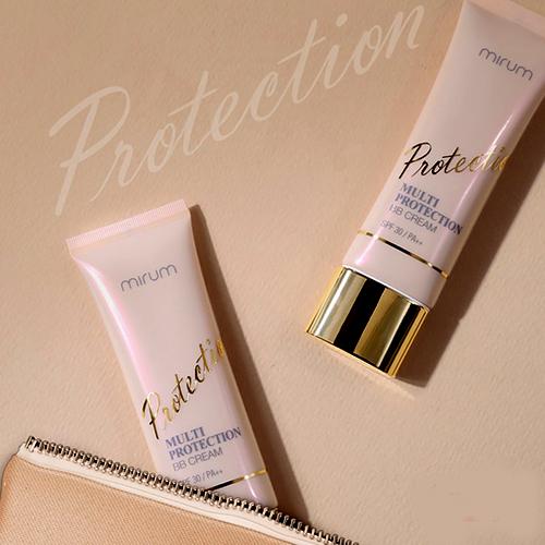 mirum multi protection bb cream spf30/pa++ che phủ mọi khuyết điểm trên da