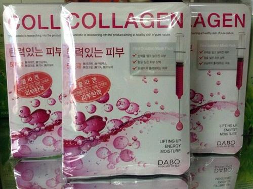 mặt nạ collagen dabo thiết kế nhỏ gọn ôm sát khuôn mặt