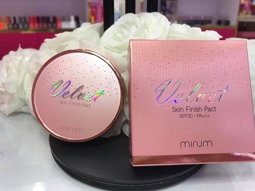mirum velvet skin finish pact spf30/pa+++ thích hợp với mọi loại da