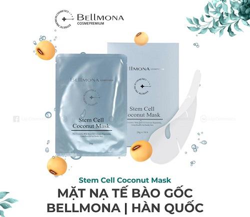 Mặt nạ tế bào gốc Stem cell Coconut Mask Bellmona Hàn Quốc