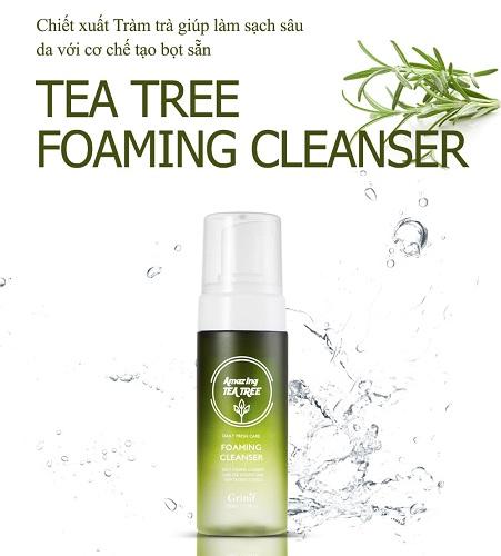 sữa rửa mặt tràm trà tea tree cleansing foam grinif