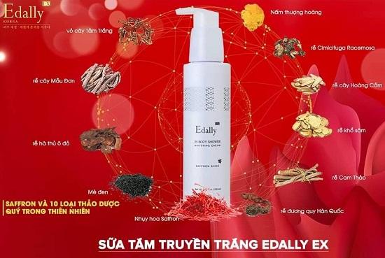 Sữa tắm truyền trắng Edally EX