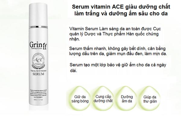 serum vitamin a c e moisture grinif tinh chất dưỡng trắng 2