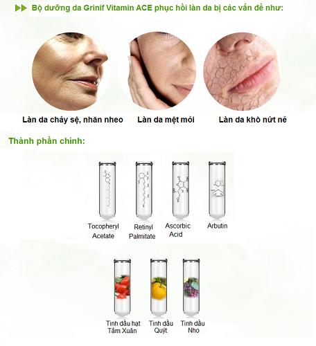 serum vitamin a c e moisture grinif tinh chất dưỡng trắng 4