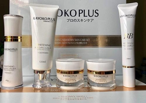 bộ trị nám kayoko plus là sản phẩm của thương hiệu mỹ phẩm kayoko nhật bản