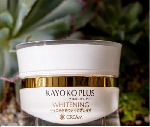 kem dưỡng trắng da ban ngày kayoko plus whitening cream