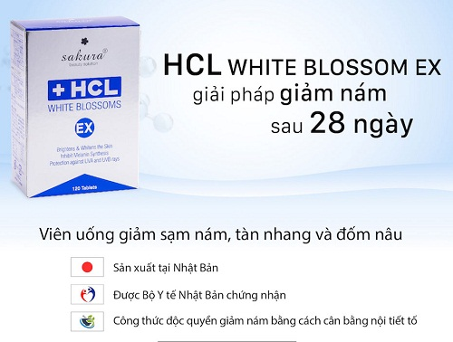 sakura hcl white blossoms ex giảm nám sau 28 ngày