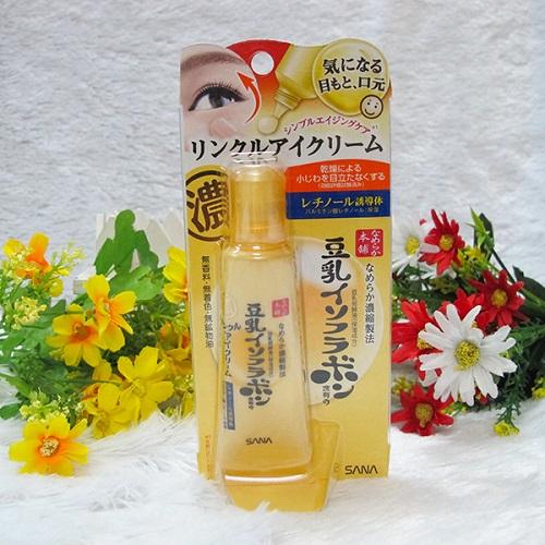 Công dụng Kem trị tan bọng mắt Sana Nhật Bản 25g