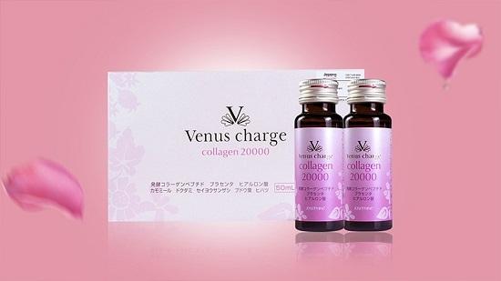 Nước uống Venus Charge Collagen Peptide 20000mg Nhật Bản
