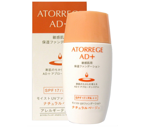 Phấn nền chống nắng Nhật Atorrege AD+ Moist UV Foundation 30ml