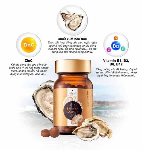 thành phần của oyster extract sakura