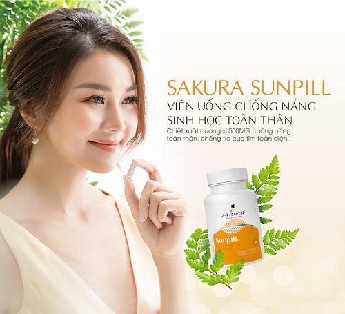 viên chống nắng sakura sunpill an toàn cho sức khỏe và làn da