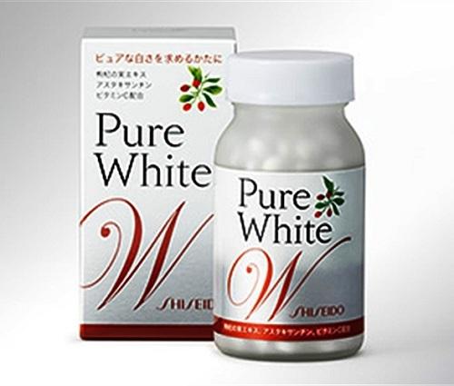 Viên uống Trị Nám Tàn Nhang Pure White Shiseido tốt nhất Nhật Bản