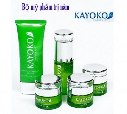 Bộ gồm 5 sản phẩm trị nám Kayoko của Nhật