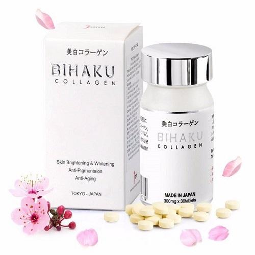 Viên uống trắng da Bihaku Collagen trắng da Nhật Bản