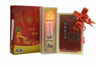 Bộ quà Cao linh chi Trà linh chi Hàn Quốc cao cấp tặng tết