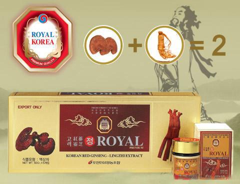 Cao hồng sâm linh chi Royal Hàn Quốc chính hãng