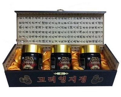 Cao linh chi đen hộp gỗ Hàn Quốc cô đặc loại thượng hạng