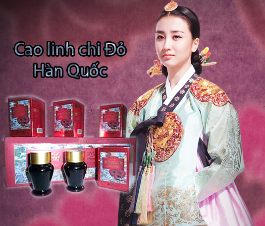 Cao Linh Chi Đỏ Hàn Quốc chế biến từ Nấm linh chi đỏ tăng cường sức khỏe