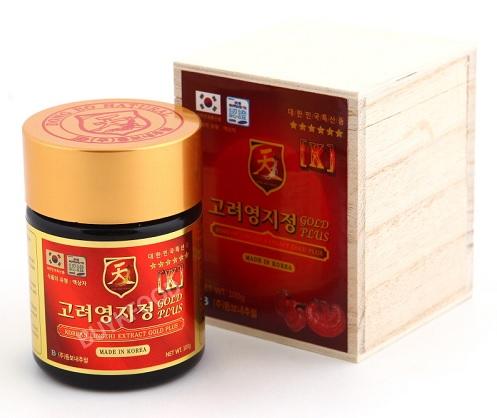 Cao linh chi đỏ Hàn Quốc hộp gỗ 400g cao cấp