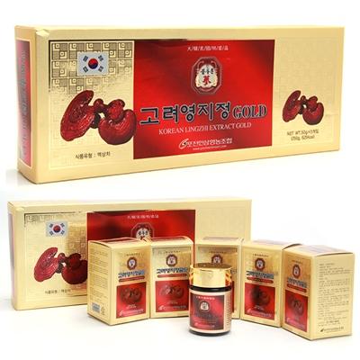 Tác dụng cao Linh Chi Gold Hàn Quốc hộp 5 lọ với sức khỏe
