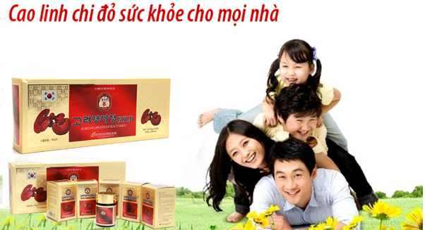 Cao Linh Chi Gold Hàn Quốc hộp 5 lọ cho gia đình khỏe mạnh