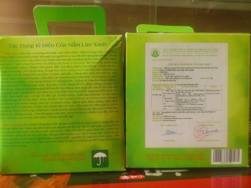 Nấm lim xanh tiên phước tử chi 1kg chính hãng
