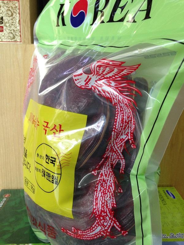 Nấm linh chi đỏ Hàn Quốc túi xanh 1 kg chất lượng cao