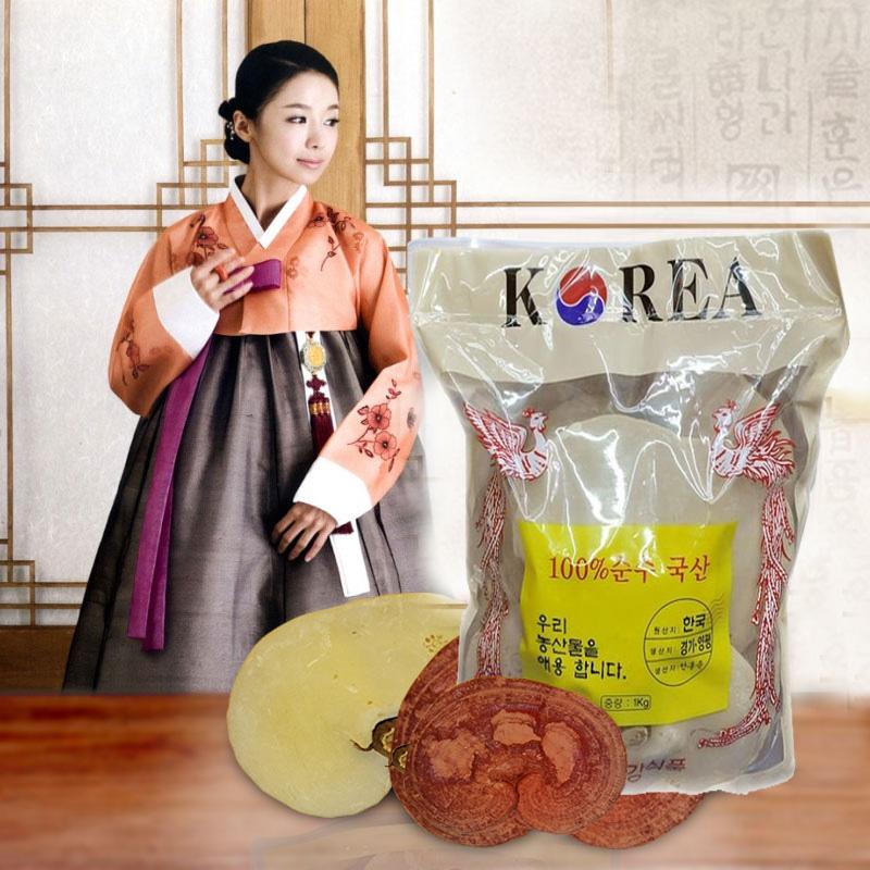 Nấm linh chi Phượng Hoàng vàng Hàn Quốc tai to cho sức khỏe