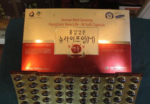 Viên uống hồng sâm Hàn Quốc tăng lực