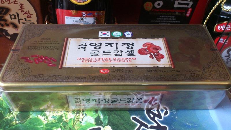 Viên uống linh chi Hàn Quốc KGS hộp thiếc