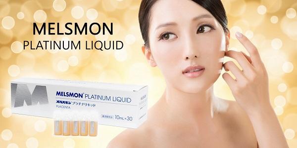 Nhau thai melsmon platinum liquid placenta đem lại làn da trẻ đẹp