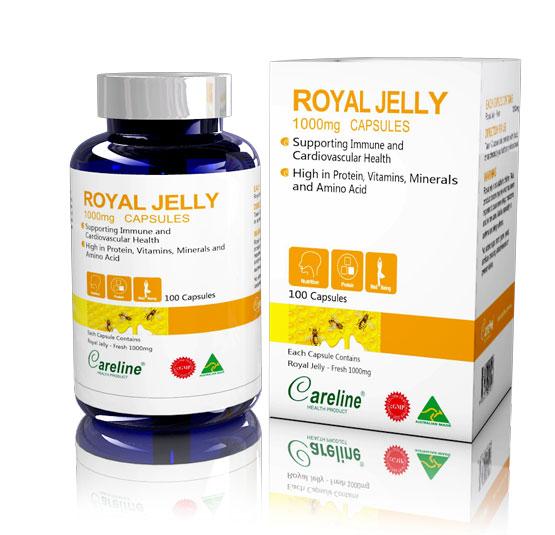 Viên Sữa ong chúa Royal Jelly 1000mg Careline hộp 100 viên
