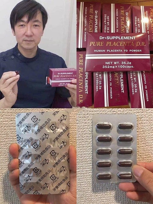 Viên uống tế bào gốc Pure Placenta D.R Nhật Bản 100 viên