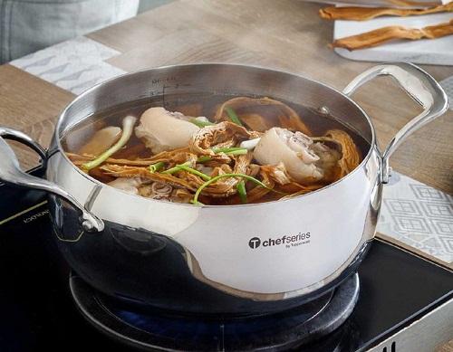 nồi t chef series casserole 3.8l  có thể sử dụng cho mọi loại bếp