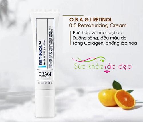 những ưu điểm nổi bật của obagi clinical retinol 05 retexturizing cream