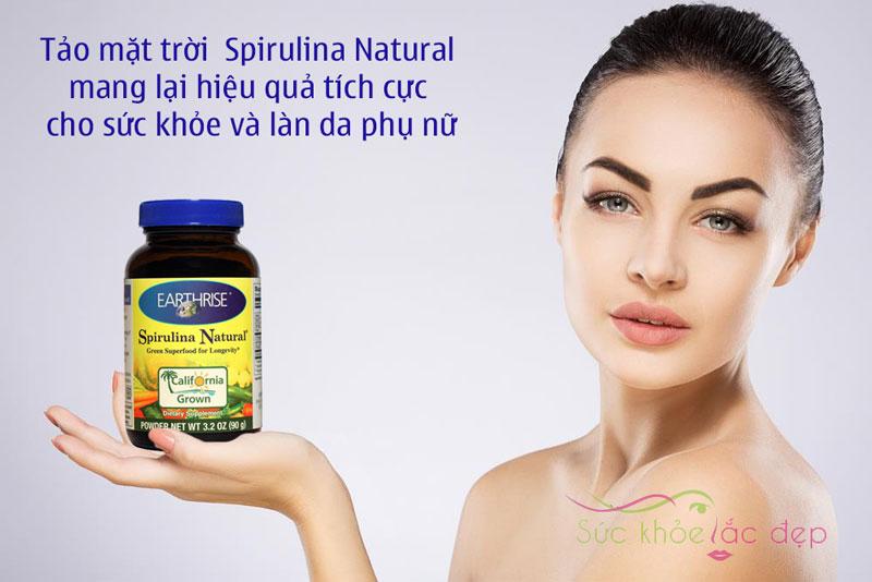 Earthrise Spirulina Natural - Thực phẩm chức năng Tảo mặt trời tự nhiên dạng viên