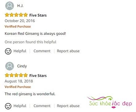 Review hồng sâm củ khô Daedong trên Amazon