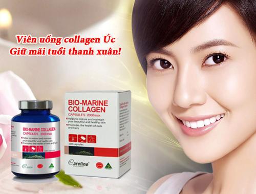 Viên uống bio-marine collagen careline giúp trẻ hóa cho da