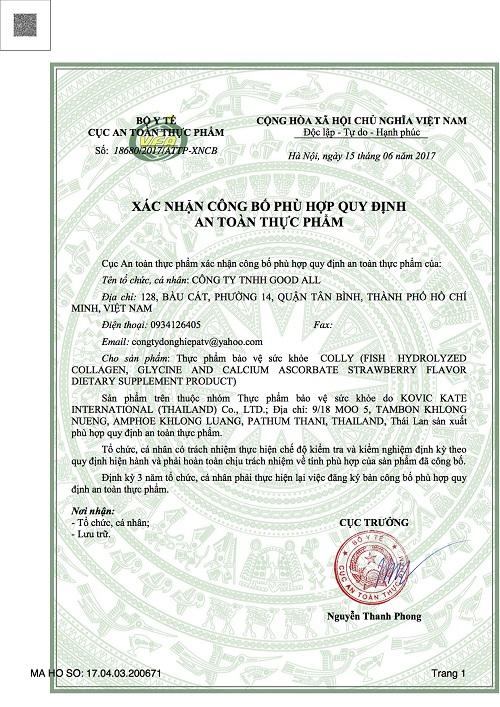 Bột Uống Collgen Làm Đẹp Da Colly Collagen 10000mg Thái Lan Mẫu Mới