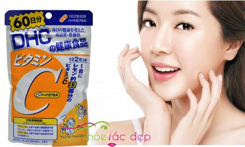 Công dụng làm trắng da của DHC vitamin c Nhật Bản
